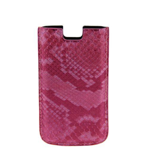 Esclusivo porta iPhone SE/5s/5 in vero pitone Rosa TL141130