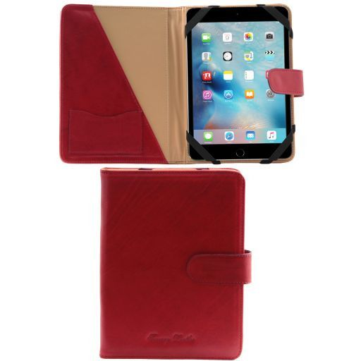 Porta iPad Mini 4 in pelle con bottone Rosso TL141171