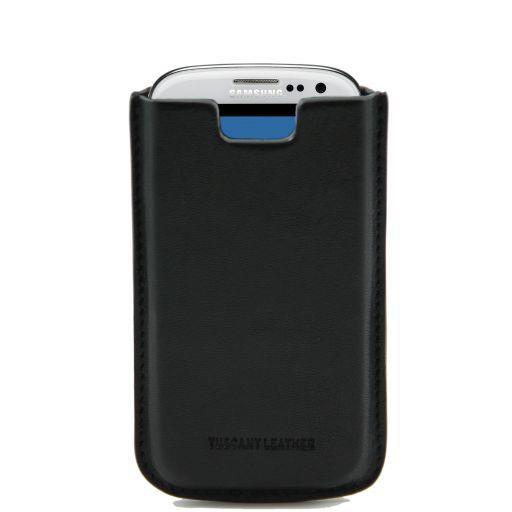 Esclusivo porta Galaxy S3 in pelle Nero TL141140