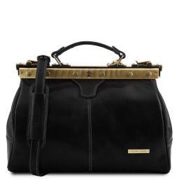 Michelangelo Doctor gladstone leather bag Black TL10038