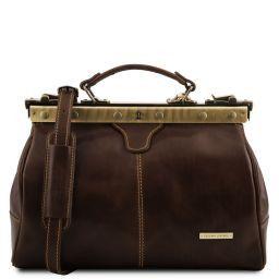Michelangelo Doctor gladstone leather bag Dark Brown TL10038