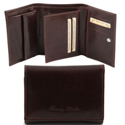 Esclusivo portafogli in pelle da donna Testa di Moro TL141142