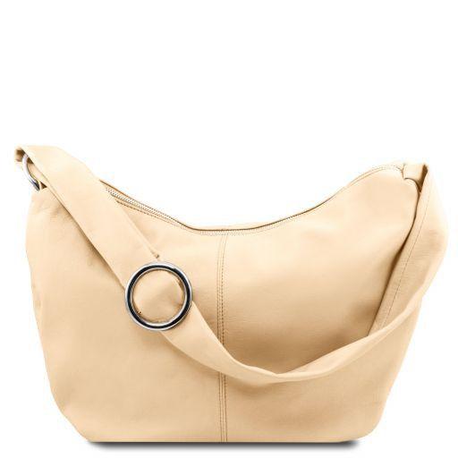 8a9cc310ddd4 Yvette Leather Hobo bag Beige TL140900