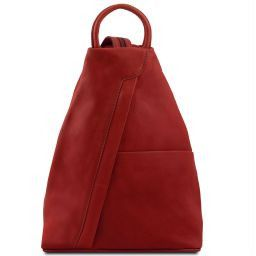 Shanghai Leather backpack Red TL140963