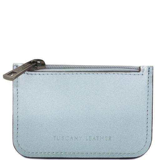 Leather key holder Светло-голубой TL141677