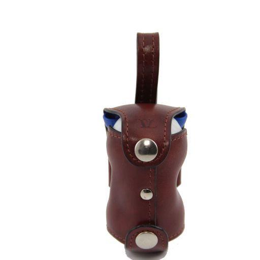 Porta bolas de golf en piel 2 bolas Marrón TL141159