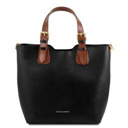 TL Bag Borsa shopping in pelle Saffiano Nero TL141696