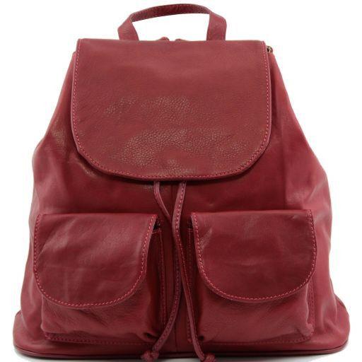 Seoul Zaino in pelle morbida - Misura grande Rosso TL90142
