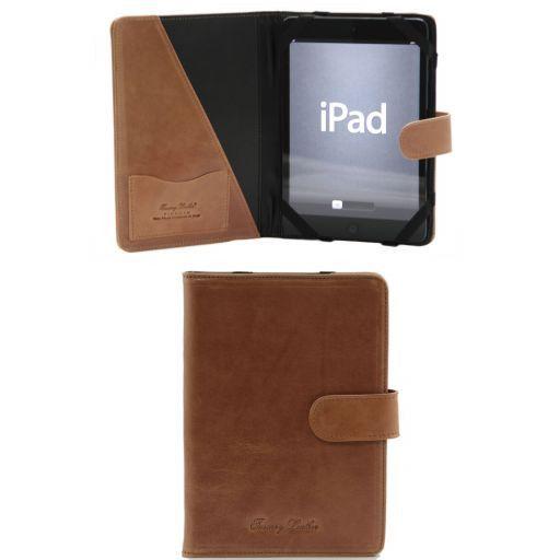 Etui pour iPad Mini 4 en cuir avec bouton pression Miel TL141171