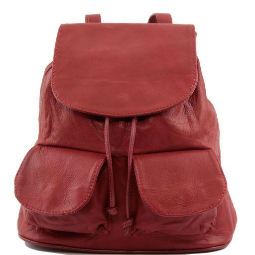Seoul Mochila en piel modelo pequeño Rojo TL90143