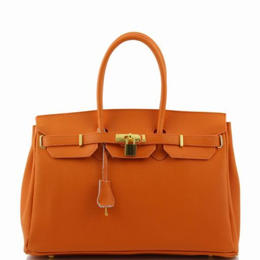 TL Bag Borsa a mano media con accessori oro Arancio TL141174