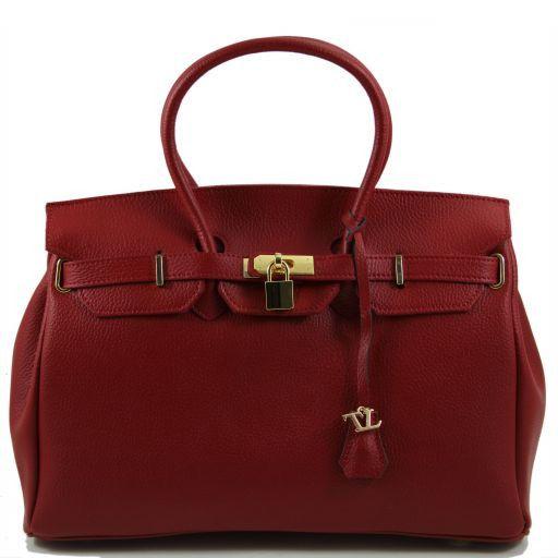 TL Bag Borsa a mano media con accessori oro Rosso TL141174
