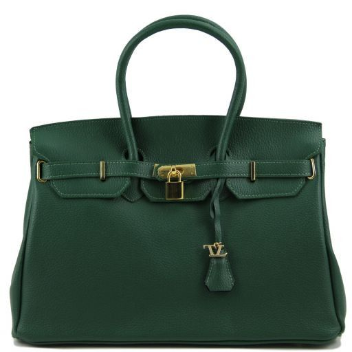 TL Bag Borsa a mano media con accessori oro Verde scuro TL141174
