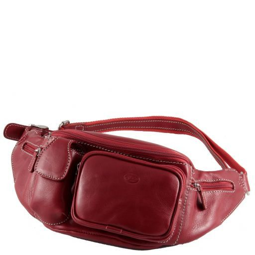 Courmayeur Marsupio in pelle Rosso TL90144