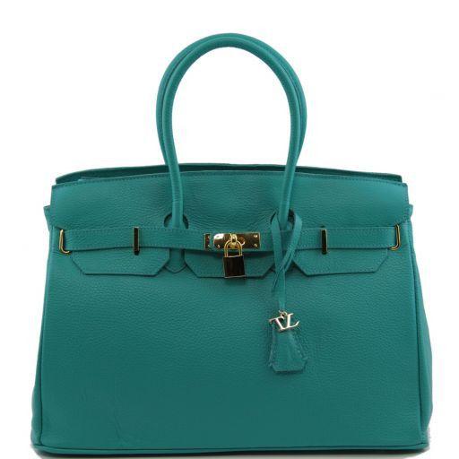 TL Bag Borsa a mano media con accessori oro Turchese TL141174