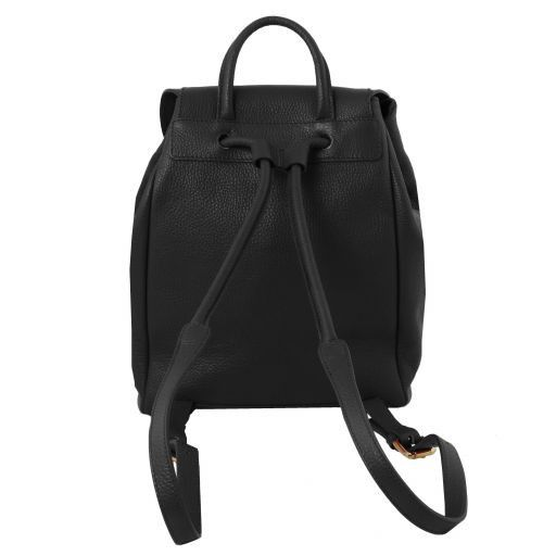 TL Bag Soft leather backpack for women Black TL141697