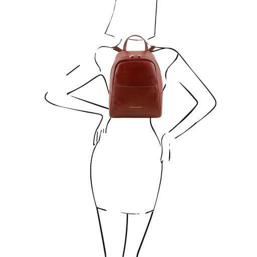 TL Bag Mochila pequeño en piel para mujer Marrón TL141614