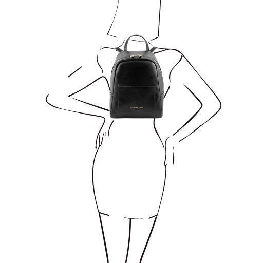 TL Bag Zaino piccolo in pelle da donna Nero TL141614