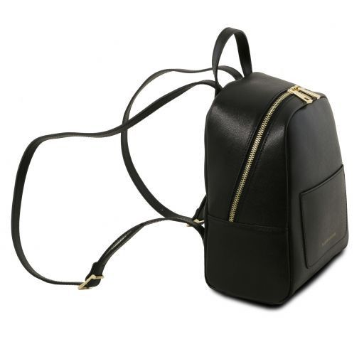 TL Bag Zaino piccolo in pelle Saffiano da donna Nero TL141701