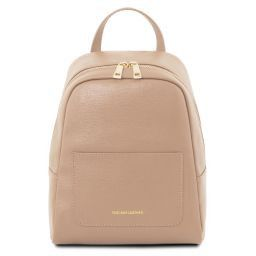 TL Bag Small Saffiano leather backpack for women Nude TL141701