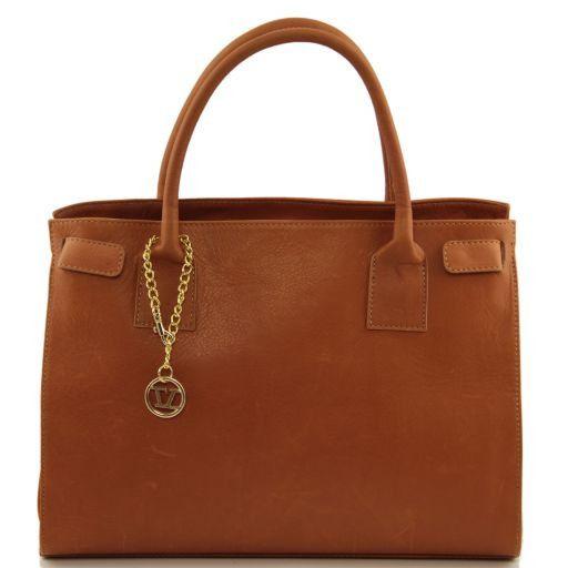 TL Bag Borsa morbida con pendente dorato Cognac TL141191
