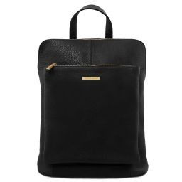TL Bag Soft leather backpack for women Black TL141682