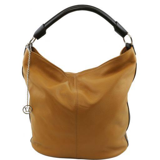 TL Bag Borsa secchiello da donna in pelle Cognac TL141201