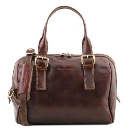 Eveline Leather duffle bag Brown TL141714