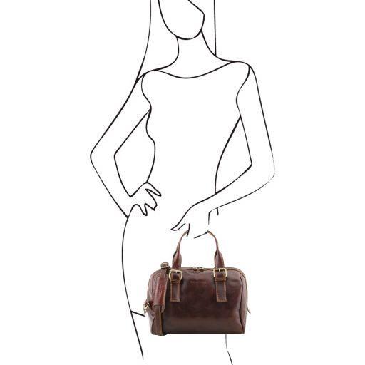 Eveline Leather duffle bag Коричневый TL141714