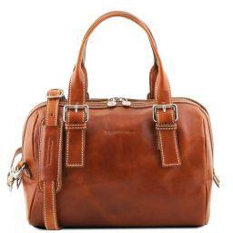 Eveline Leather duffle bag Honey TL141714