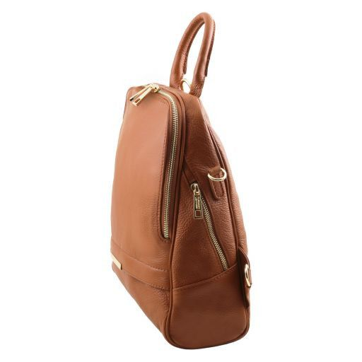 TL Bag Soft leather backpack for women Коньяк TL141376
