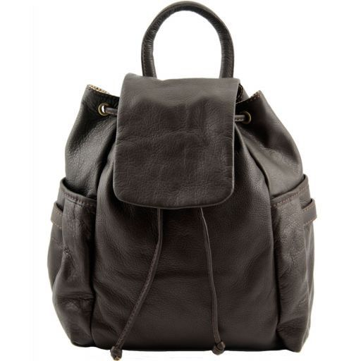 Kathmandu Leather backpack Dark Brown TL141202
