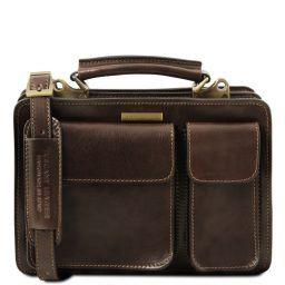 Tania Leather lady handbag Dark Brown TL141270