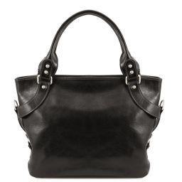 Ilenia Leather shoulder bag Black TL140899