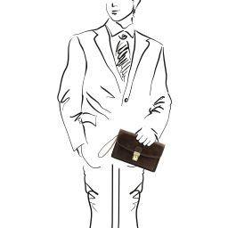 Arthur Esclusivo borsello a mano in pelle Testa di Moro TL141444