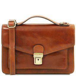 Eric Кожаная сумка через плечо Мед TL141443