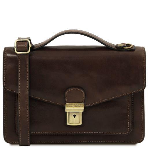 Eric Elegante Herrentasche aus Kalbsleder Dunkelbraun TL141443