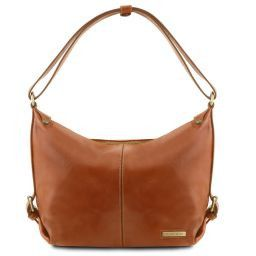 Sabrina Leather hobo bag Honey TL141479