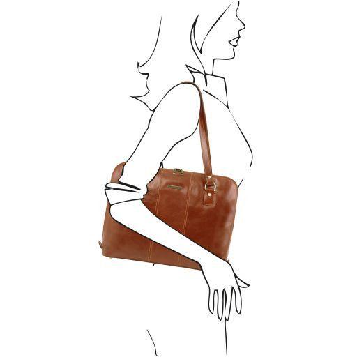 Ravenna Esclusiva borsa business per donna Miele TL141277
