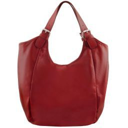 Gina Leather hobo bag Red TL141357