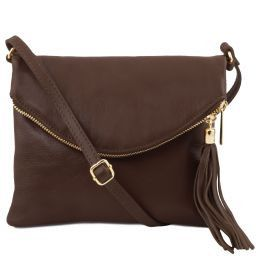 a935535cf63e Italian Leather Shoulder Bags Dark Brown Buy Online at Tuscany Leather