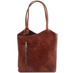 Patty Leather convertible bag Brown TL141497