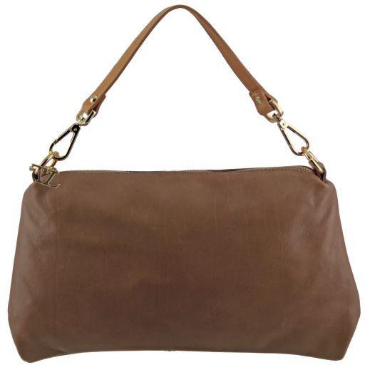 TL Bag Tracollina in pelle con accessori oro Talpa chiaro TL141209
