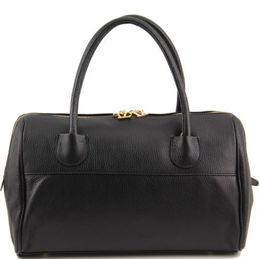 TL Bag Bauletto in pelle con accessori oro Nero TL141210