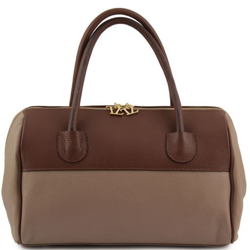 TL Bag Bauletto in pelle con accessori oro Multicolor 2 TL141210