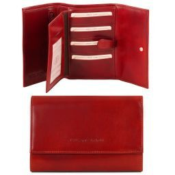 Exclusive leather wallet for women Red TL140796