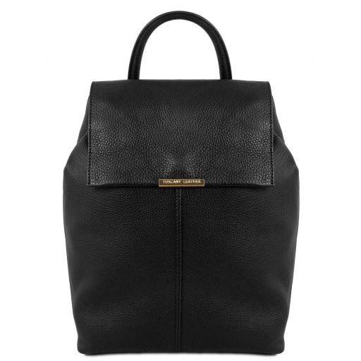 e4411410b38c1 TL Bag Lederrucksack Für Damen aus Weichem Leder Schwarz TL141706