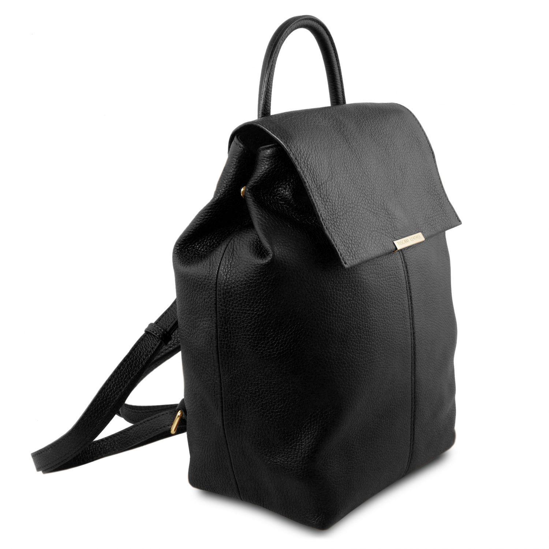 tl bag sac dos pour femme en cuir souple noir tl141706. Black Bedroom Furniture Sets. Home Design Ideas