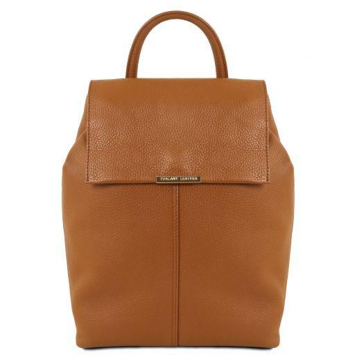buy popular 30343 81ebc Zaino donna in pelle morbida - Cognac