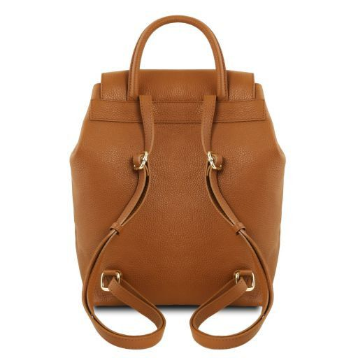 TL Bag Zaino donna in pelle morbida Cognac TL141706